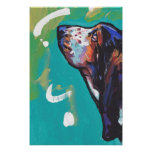 Impresión del poster del arte pop de Basset Hound