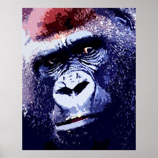 Impresión del poster del arte pop de la cara del g