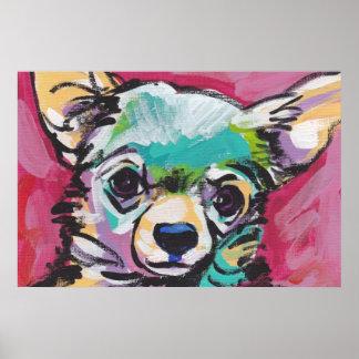 Impresión del poster del arte pop de la chihuahua