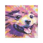 Impresión del poster del arte pop de Pomeranian Lienzo Envuelto Para Galerías