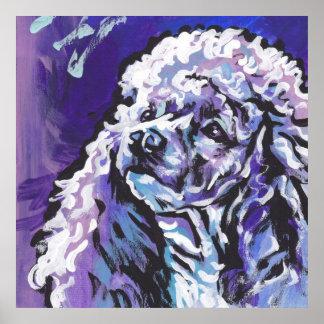 Impresión del poster del arte pop del caniche