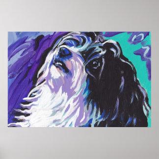 Impresión del poster del arte pop del perro de Hav