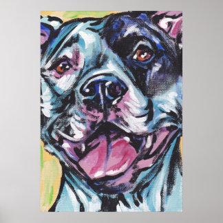 Impresión del poster del arte pop del pitbull