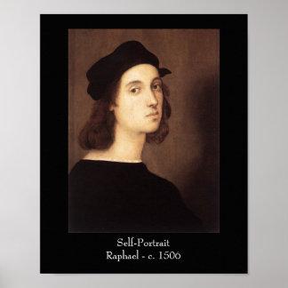Impresión del poster del autorretrato de Raphael
