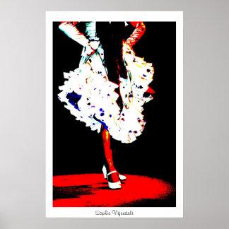 """""""Impresión del poster del bailarín del flamenco"""""""