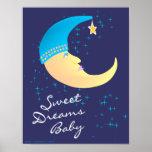 Impresión del poster del bebé de los sueños dulces