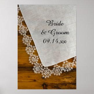 Impresión del poster del boda del cordón del país