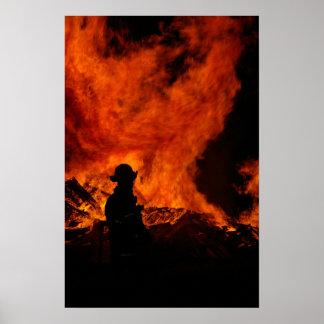 Impresión del poster del bombero