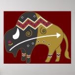 Impresión del poster del búfalo del sudoeste de Ti