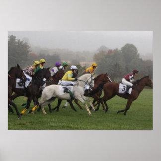 Impresión del poster del caballo de raza