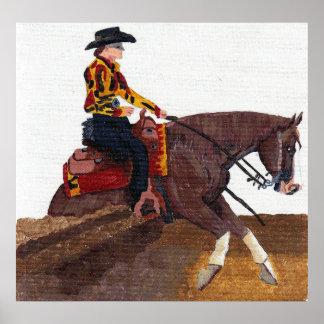 Impresión del poster del caballo del caballo que c