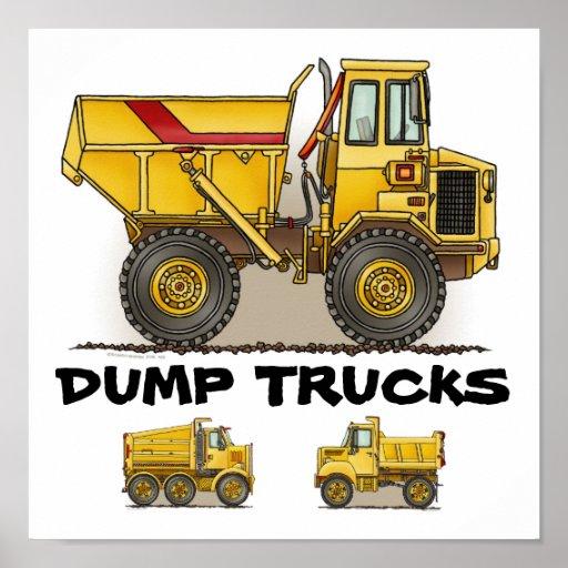 Impresión del poster del camión volquete