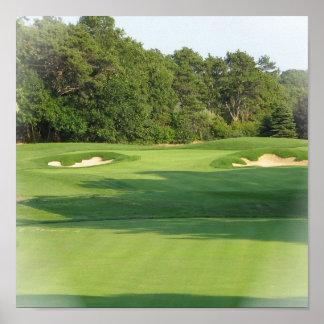 Impresión del poster del campo de golf