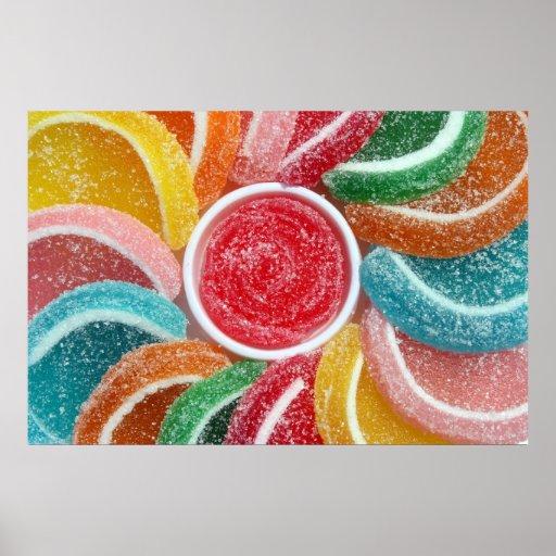 impresión del poster del caramelo de la jalea