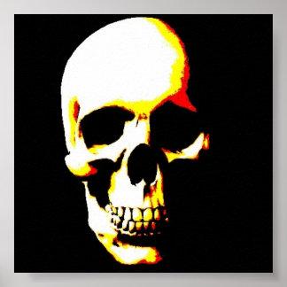 Impresión del poster del cráneo - arte pop del pun