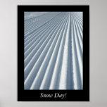 Impresión del poster del día de la nieve