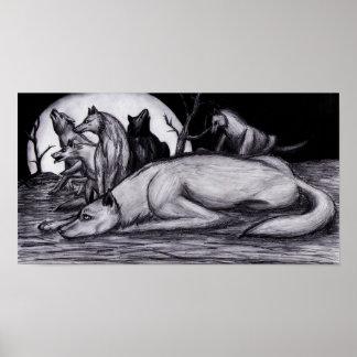 """Impresión del poster del dibujo de la """"manada de l"""