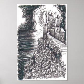 Impresión del poster del dibujo del castillo de la