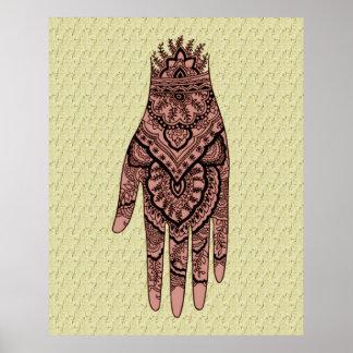 Impresión del poster del diseño del arte del tatua