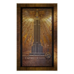 impresión del poster del Empire State Building 12x