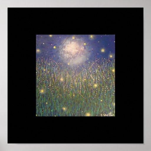 Impresión del poster del encanto de la luciérnaga