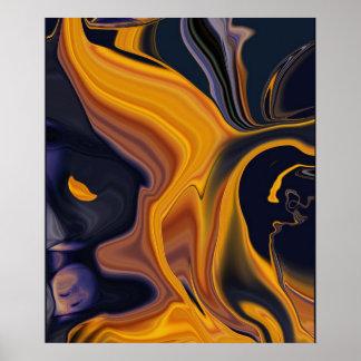 Impresión del poster del extracto de la lava fundi