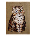 Impresión del poster del gato de Louis Wain Monacl