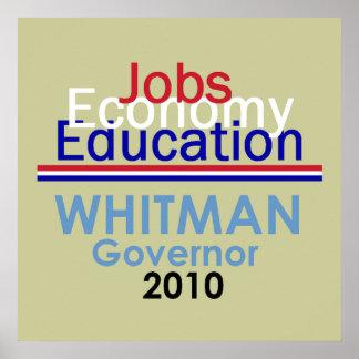 Impresión del POSTER del gobernador de WHITMAN