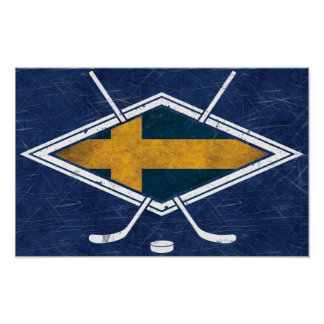 Impresión del poster del hockey sobre hielo de