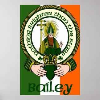 Impresión del poster del lema del clan de Bailey