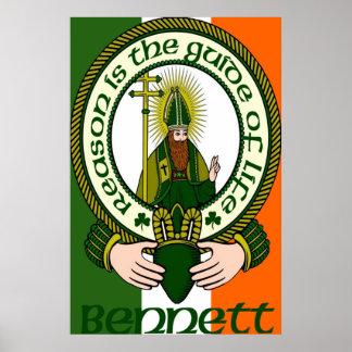 Impresión del poster del lema del clan de Bennett