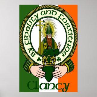 Impresión del poster del lema del clan de Clancy