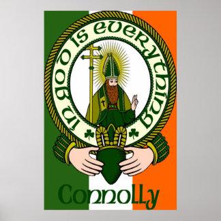 Impresión del poster del lema del clan de Connolly
