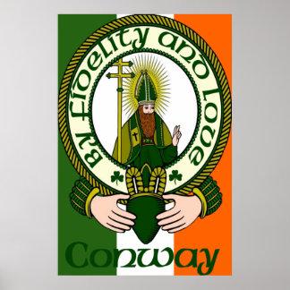 Impresión del poster del lema del clan de Conway