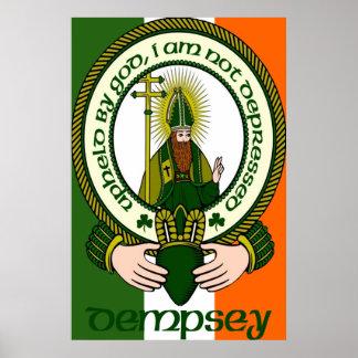 Impresión del poster del lema del clan de Dempsey