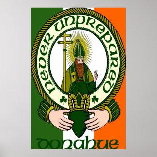 Impresión del poster del lema del clan de Donahue