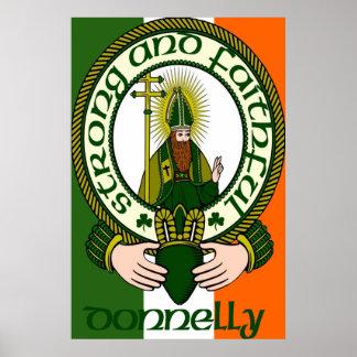 Impresión del poster del lema del clan de Donnelly
