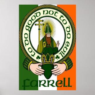 Impresión del poster del lema del clan de Farrell