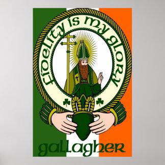 Impresión del poster del lema del clan de Gallaghe