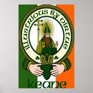 Impresión del poster del lema del clan de Keane