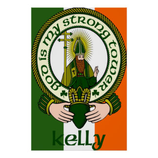 Impresión del poster del lema del clan de Kelly