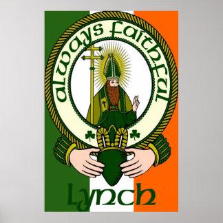 Impresión del poster del lema del clan de Lynch