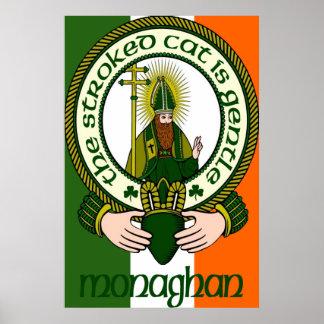 Impresión del poster del lema del clan de Monaghan