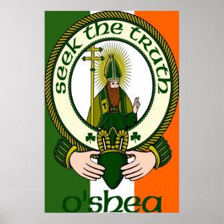 Impresión del poster del lema del clan de O'Shea