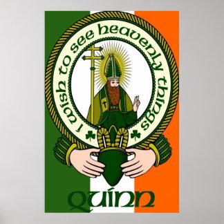 Impresión del poster del lema del clan de Quinn