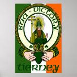 Impresión del poster del lema del clan de Tierney
