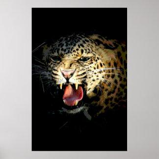 Impresión del poster del leopardo - imagen de