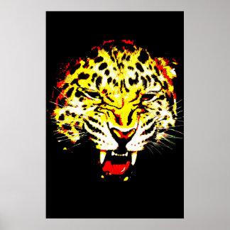Impresión del poster del leopardo - ojos de