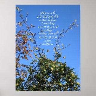 Impresión del poster del manzano del rezo de la se