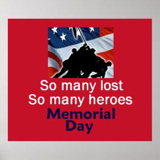 Impresión del POSTER del Memorial Day
